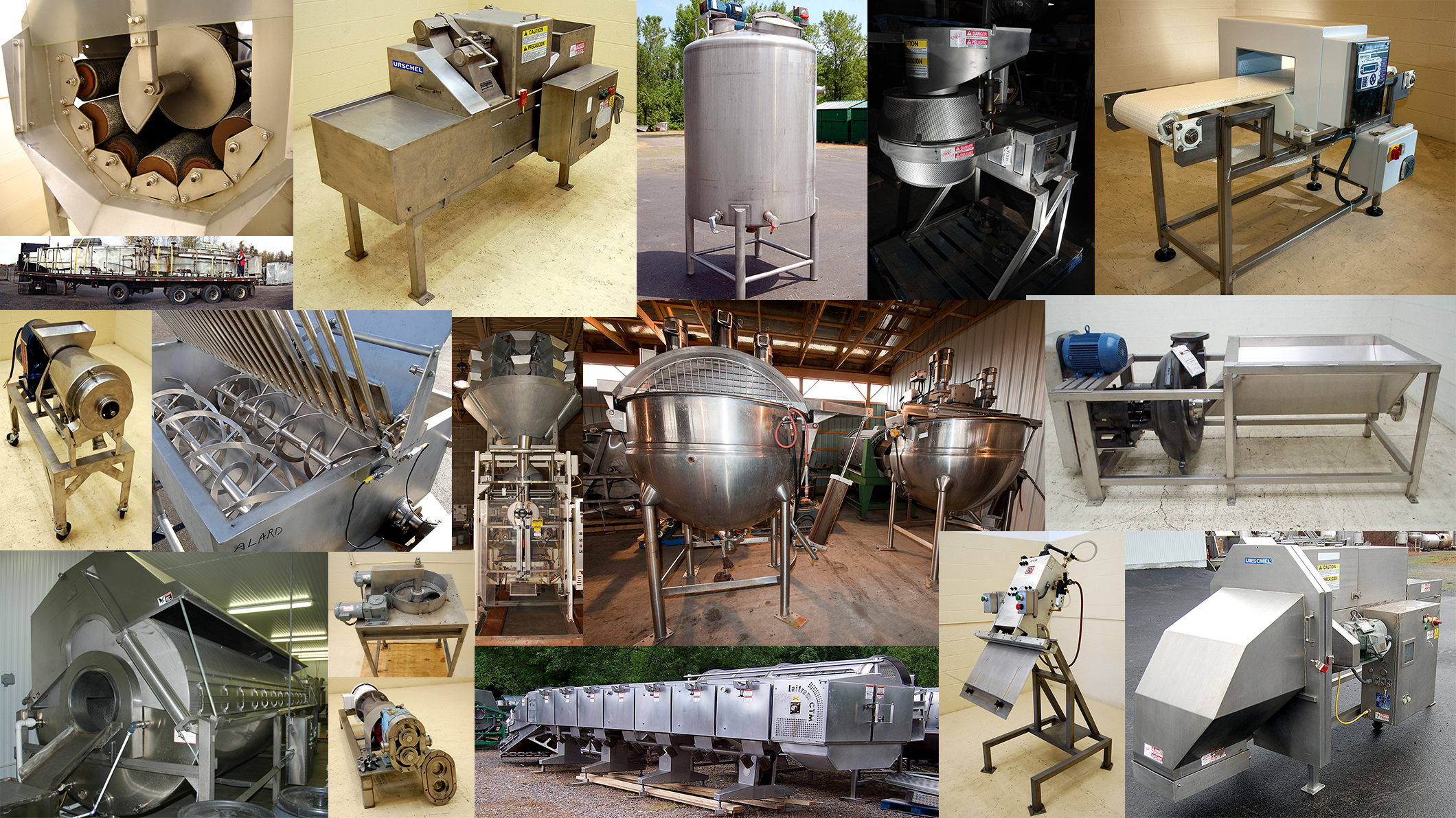 used, rebuilt, refurbished, reconditioned, and new food processing equipment, food packaging equipment